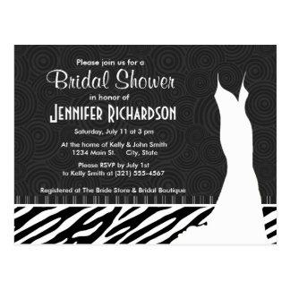 Black & White Zebra Stripes Postcard