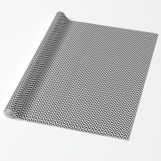 Black & White ZigZag Chevron Gift Wrapping Paper