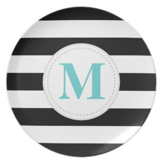 Black Wide Stripe Plate