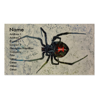 Black Widow Pack Of Standard Business Cards