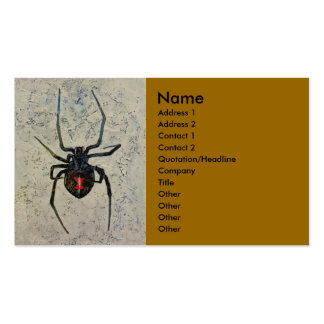 Black Widow Double-Sided Standard Business Cards (Pack Of 100)