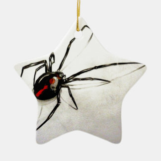 Black widow christmas ornament