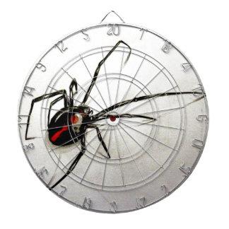 Black widow dartboard