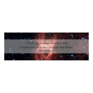 Black Widow Nebula Double-Sided Mini Business Cards (Pack Of 20)