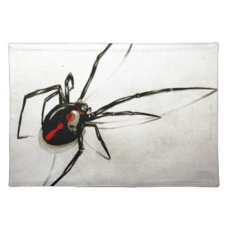 Black widow placemat