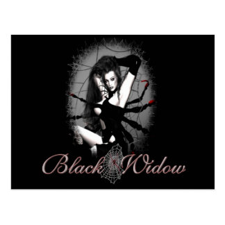 Black Widow Postcard