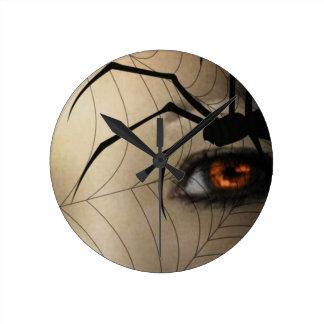 Black Widow Round Clock