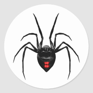 Black Widow Spider Classic Round Sticker