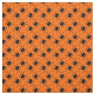 black widow spider halloween design fabric