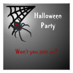 Black Widow Spider Halloween Party Custom Announcements