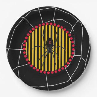Black Widow Spider Halloween Party Paper Plates
