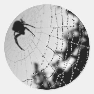 black widow spider: Happy Halloween Round Sticker