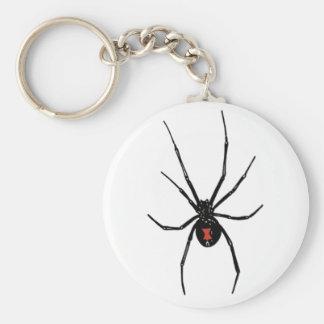BLACK WIDOW SPIDER KEYCHAIN KEYRING
