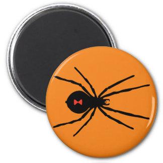 Black Widow Spider 6 Cm Round Magnet