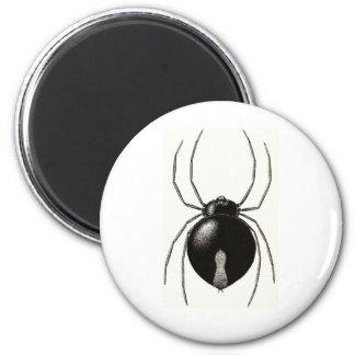 Black Widow Spider -- Original Artwork 6 Cm Round Magnet