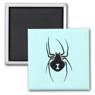 Black Widow Spider Print Square Magnet
