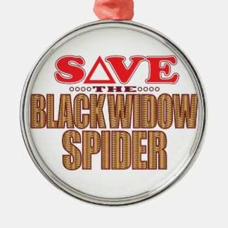 Black Widow Spider Save Christmas Ornament