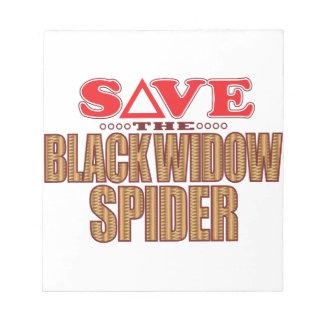 Black Widow Spider Save Notepad