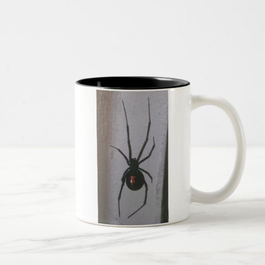 Black Widow Spider Two-Tone Coffee Mug