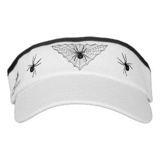 Black Widow Spider Web Halloween Gothic Visor