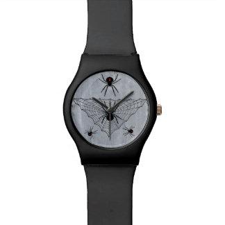 Black Widow Spider Web Halloween Gothic Wristwatches