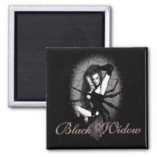Black Widow Square Magnet