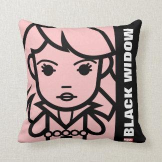 Black Widow Stylized Line Art Cushion