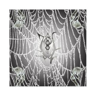 Black Widow Web Canvas Canvas Print