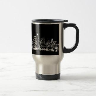 Black & Wihte New York City Night Coffee Mug