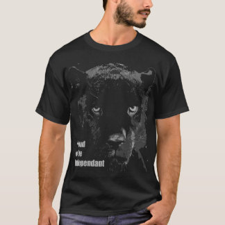 Black Wild Cat T-Shirt