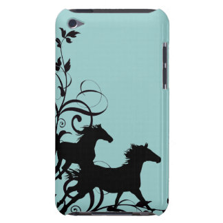 Black Wild Horses Barely There iPod Covers