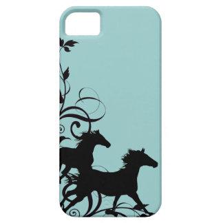 Black Wild Horses iPhone 5 Cover