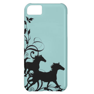 Black Wild Horses iPhone 5C Case