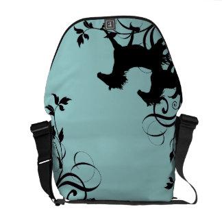 Black Wild Horses Messenger Bags