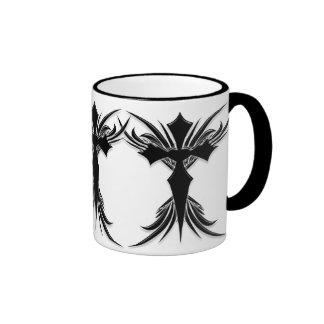 Black Winged Cross Mugs
