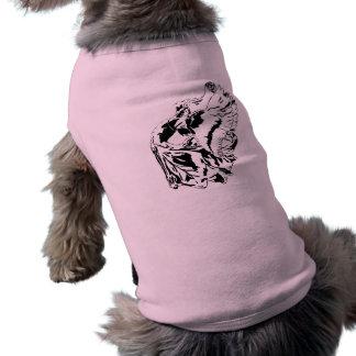 Black winged fairy sleeveless dog shirt