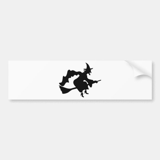 Black witch bumper sticker