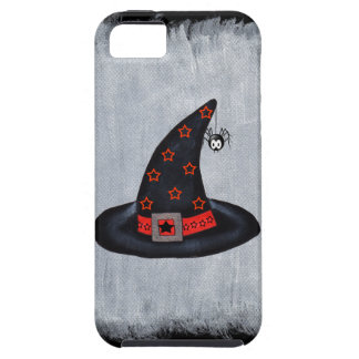 Black Witch Hat Stars Cute Spider Halloween iPhone 5 Cases