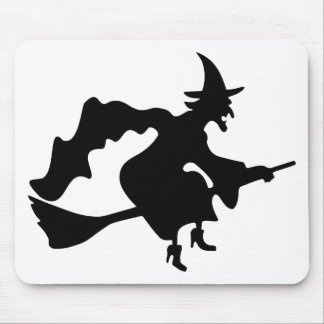 Black witch mouse mat