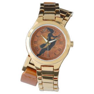 Black Witch - Orange Halloween Wrist Watch