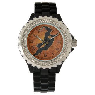 Black Witch - Orange Halloween Wristwatch