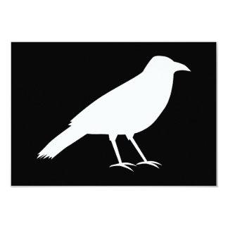 Black with a White Crow. 9 Cm X 13 Cm Invitation Card