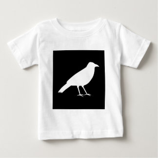 Black with a White Crow. Baby T-Shirt