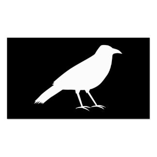 Black with a White Crow. Pack Of Standard Business Cards