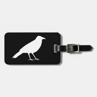 Black with a White Crow. Luggage Tag