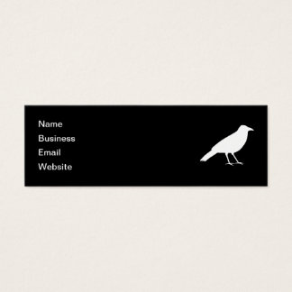 Black with a White Crow. Mini Business Card