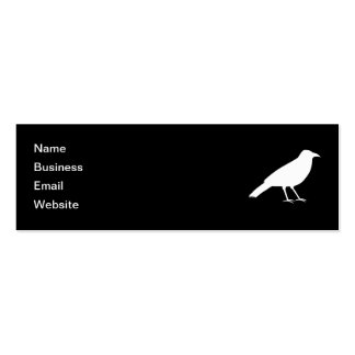 Black with a White Crow. Pack Of Skinny Business Cards