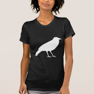 Black with a White Crow. T-Shirt