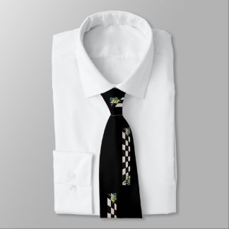 black with black and white squares-tie tie