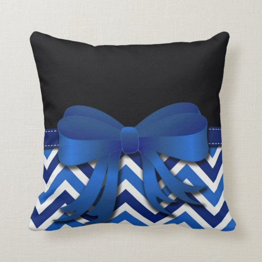 Black with Blue and White Chevron and Blue